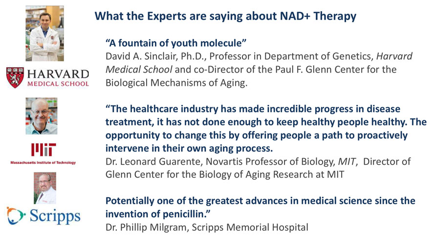 what the experts say about NAD+ treatment